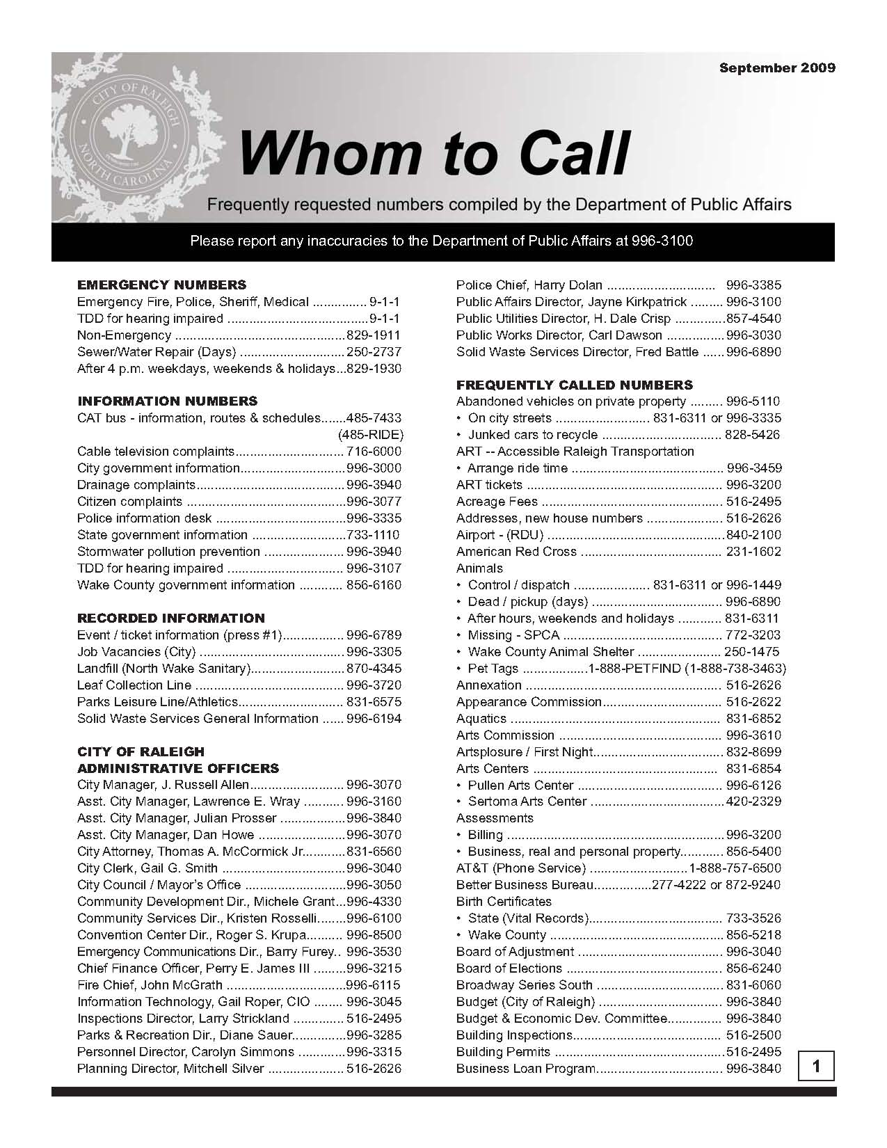 Whom-to-Call-September-2009 - page 1